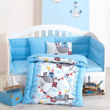 Cotton Box Gemici Bebek Uyku Seti Mavi