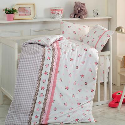 Cotton Box - Cotton Box Lace Lesli Güpürlü Bebek Nevresim Takımı