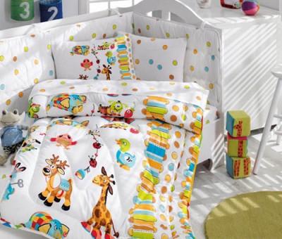 Cotton Box - Cotton Box Oyun Bahçesi Pamuklu Bebek Uyku Seti