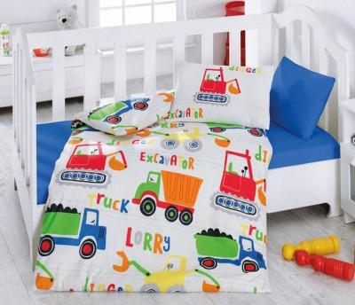 Cotton Box - Cotton Box Şantiye Pamuklu Bebek Nevresim Takımı Mavi
