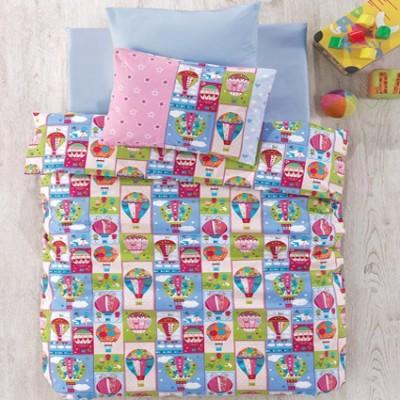 Cotton Box - Cotton Box Uçan Balonlu Bebek Uyku Seti Pembe