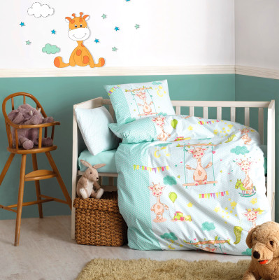 Cotton Box - Cotton Box Zürafa Tasarımlı Bebek Nevresim Takımı