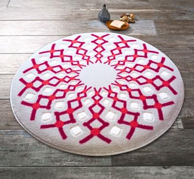 Confetti - Craft Yuvarlak Banyo Halısı Kırmızı 67cm