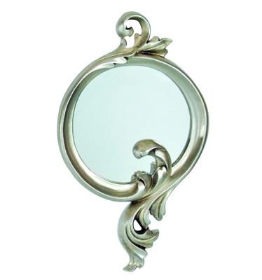 Diğer - Damla Oymalı Varaklı Dekoratif Duvar Aynası 24x44cm Gümüş