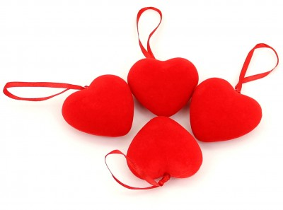 Diğer - Dekoratif 24lü Mini Köpük Kalp Asma Süsü