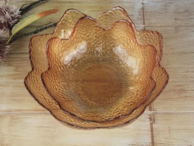 Diğer - Dekoratif Cam Meyvelik Orta Kase 28cm Amber
