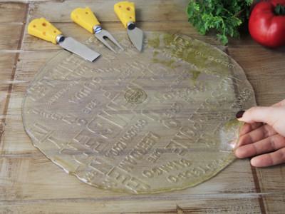 Diğer - Dekoratif Cam Servis ve Sunum Tabağı Amber 30cm