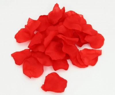 Diğer - Dekoratif Kurutulmuş Yapay Gül Yaprakları Kırmızı