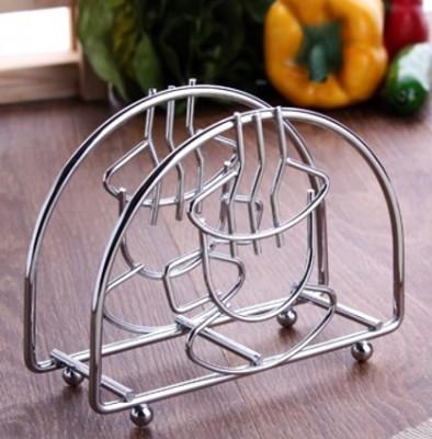 Diğer - Dekoratif Modern Tasarım Krom Kaplı Masa Üzeri Metal Peçetelik