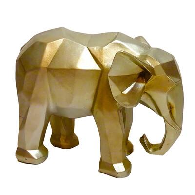 Diğer - Dekoratif Prizma Fil Biblo 24cm Gold