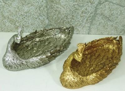 Diğer - Dekoratif Tavuskuşu Gondol Gümüş