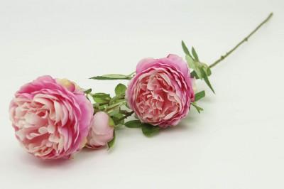 Diğer - Dekoratif Yapay Çiçek 3lü Karanfil Dalı Pembe