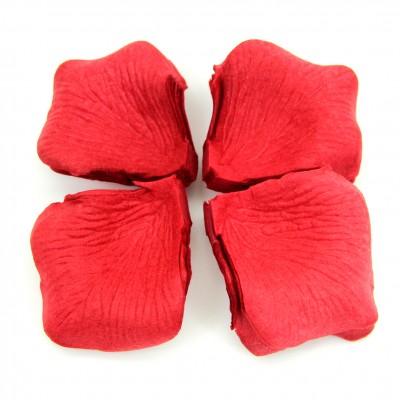 Diğer - Dekoratif Yapay Gül Yaprağı Kurusu 144 Adet Kırmızı