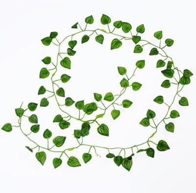 Dekoratif Yeşil Yapraklı 4 Dal Yapay Sarmaşık 2 Metre - Thumbnail