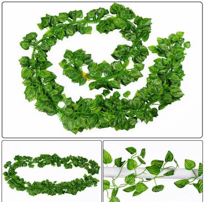Diğer - Dekoratif Yeşil Yapraklı 4 Dal Yapay Sarmaşık 2 Metre