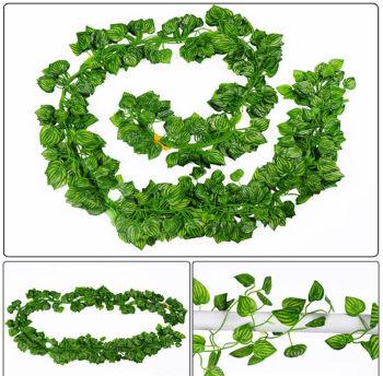 Dekoratif Yeşil Yapraklı 4 Dal Yapay Sarmaşık 2 Metre