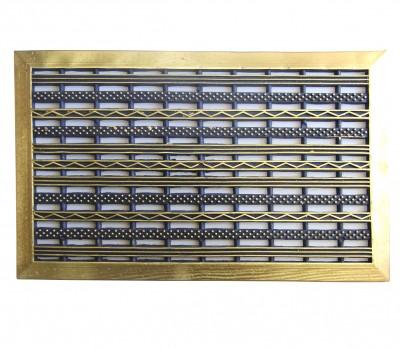 Diğer - Delikli Kapı Önü Kauçuk Dikdörtgen Paspas 44x70cm Gold
