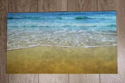 Diğer - Deniz Kenarı Fotoğraflı Kapı Önü Dikdörtgen Paspas 70x39cm