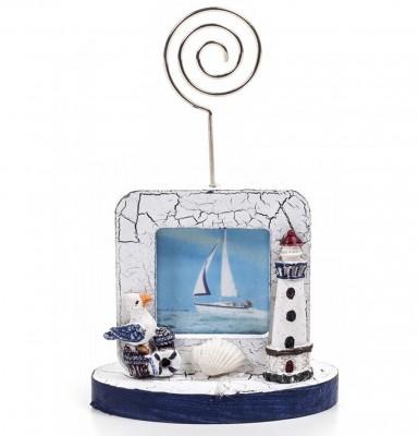 Decotown - Denizci Temalı Fotoğraf Çerçeveli Kağıt ve Kartvizit Tutacağı