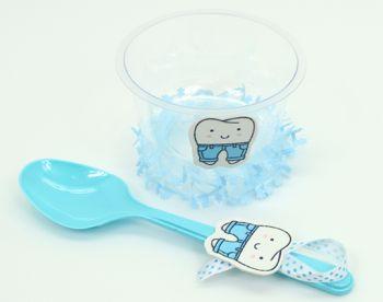 Diş Buğdayı Bebek Kase ve Kaşık Seti Mavi 24 Parça