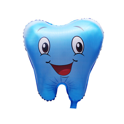 Diğer - Diş Figürlü Folyo Balon Mavi 50cm