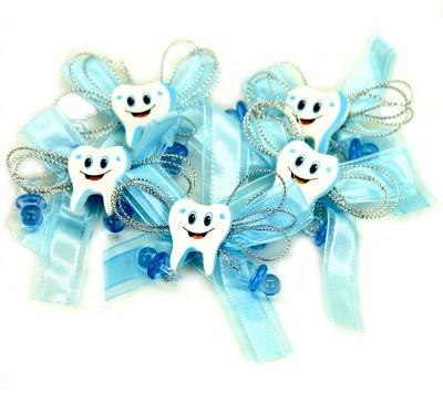 Diğer - Diş Logolu Yapışkanlı Süsleme Malzemesi 12 Adet Mavi