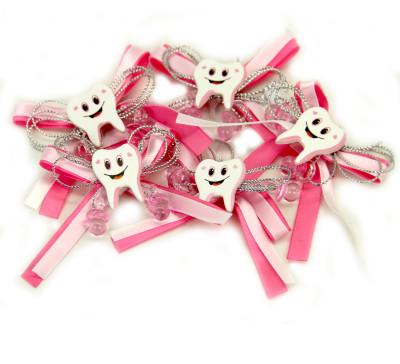 Diğer - Diş Logolu Yapışkanlı Süsleme Malzemesi 12 Adet Pembe