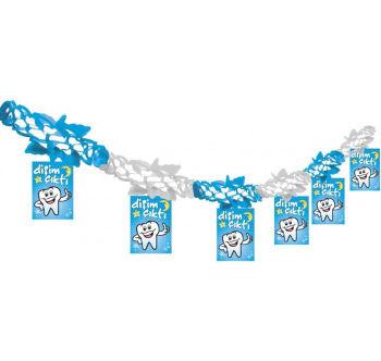 Dişim Çıktı Yazılı Diş Buğdayı Partisi Akordiyon Süs Mavi