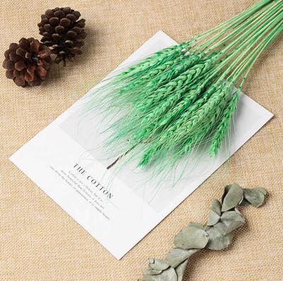 Diğer - Doğal Buğday Başağı Süsleme Demeti Yeşil