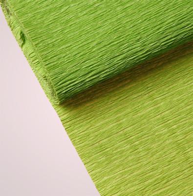 Diğer - Düz Renk Desenli Krapon Hobi ve Süsleme Kağıdı 50x250cm Açık Yeşil