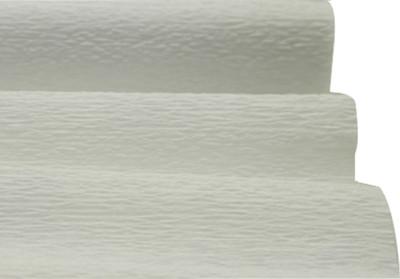 Diğer - Düz Renk Desenli Krapon Hobi ve Süsleme Kağıdı 50x250cm Beyaz