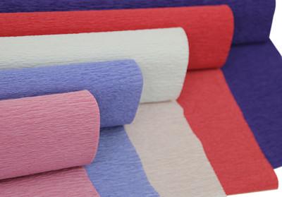 Düz Renk Desenli Krapon Hobi ve Süsleme Kağıdı 50x250cm Beyaz - Thumbnail