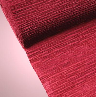 Diğer - Düz Renk Desenli Krapon Hobi ve Süsleme Kağıdı 50x250cm Bordo