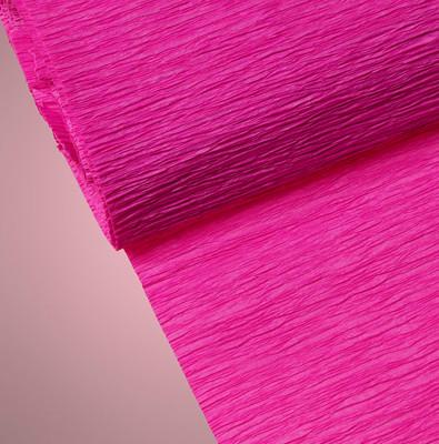 Diğer - Düz Renk Desenli Krapon Hobi ve Süsleme Kağıdı 50x250cm Fuşya