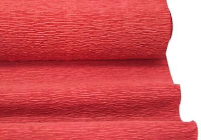 Diğer - Düz Renk Desenli Krapon Hobi ve Süsleme Kağıdı 50x250cm Kırmızı