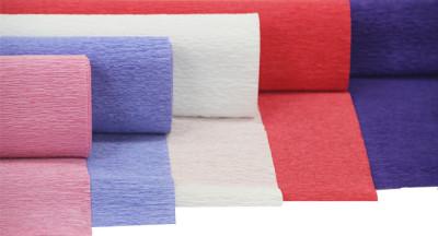 Düz Renk Desenli Krapon Hobi ve Süsleme Kağıdı 50x250cm Kırmızı - Thumbnail