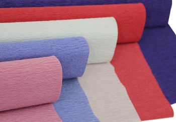 Düz Renk Desenli Krapon Hobi ve Süsleme Kağıdı 50x250cm Kırmızı