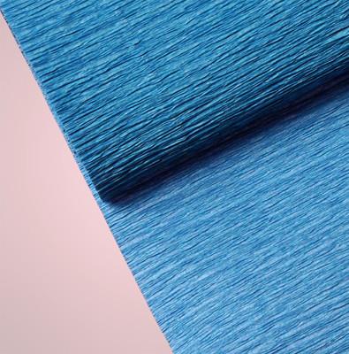 Diğer - Düz Renk Desenli Krapon Hobi ve Süsleme Kağıdı 50x250cm Koyu Mavi