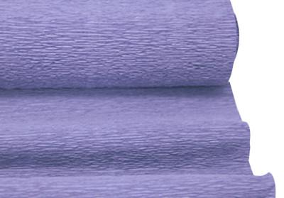 Diğer - Düz Renk Desenli Krapon Hobi ve Süsleme Kağıdı 50x250cm Lavanta