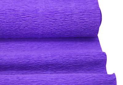 Diğer - Düz Renk Desenli Krapon Hobi ve Süsleme Kağıdı 50x250cm Mor