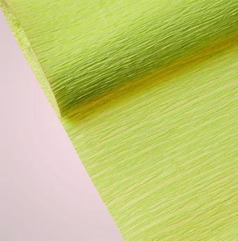 Düz Renk Desenli Krapon Hobi ve Süsleme Kağıdı 50x250cm Su Yeşili