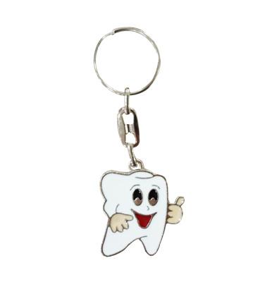Diğer - Erkek Bebek Diş Buğdayı Şeklinde Metal Anahtarlık 5 Adet