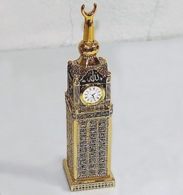 Diğer - Esmaül Hüsna Hatlı Zemzem Tower Saat 10x30cm Gold
