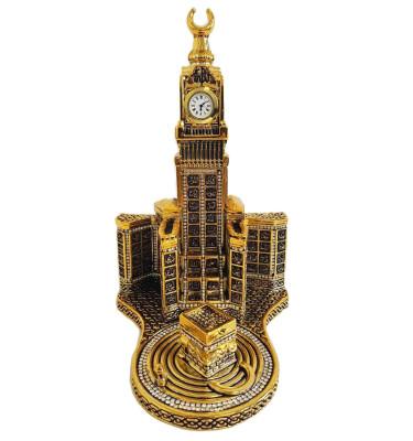 Diğer - Esmaül Hüsna Hatlı Zemzem Tower ve Kabe Biblosu 20x25cm Gold