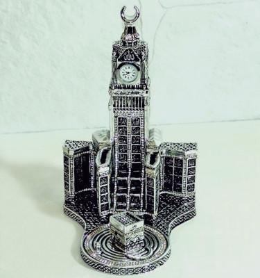 Diğer - Esmaül Hüsna Hatlı Zemzem Tower ve Kabe Biblosu 20x25cm Gümüş