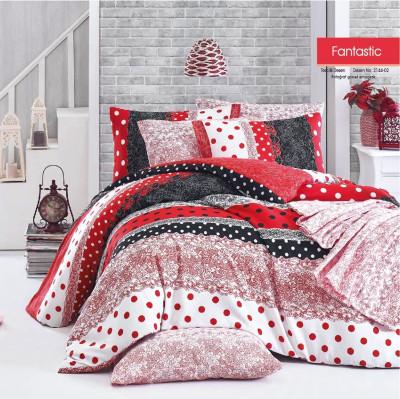 Diğer - Fantastic Terrycotton Çift Kişilik Uyku Seti Takımı Kırmızı