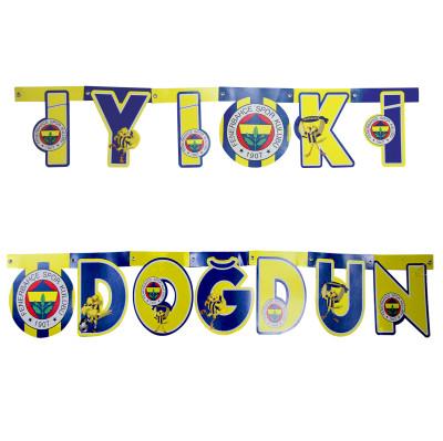 Diğer - Fenerbahçe Temalı İyi ki Doğdun Oynar Yazı Süsü