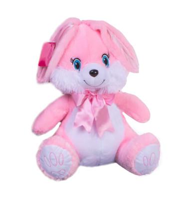 Diğer - Fiyonklu Tavşan Peluş Oyuncak 45cm Pembe