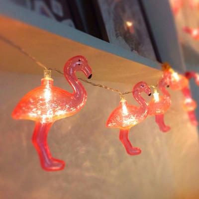 Diğer - Flamingo Figürlü 10lu Led Dekor Işığı 1.5 Metre