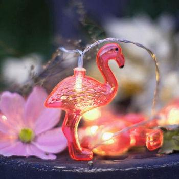 Flamingo Figürlü 10lu Led Dekor Işığı 1.5 Metre